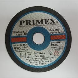 Диск за рязане на Метал 125x1x22.2 Primex